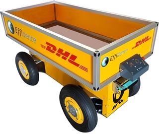 DHL heeft een paar jaar geleden ook enkele transportrobots van de Franse firma Effidence aangeschaft om ermee te experimenteren. Intussen heeft de Effibot, de robot van die leverancier, al op een aantal sites proefgedraaid, waaronder het multi-client magazijn in Mechelen.