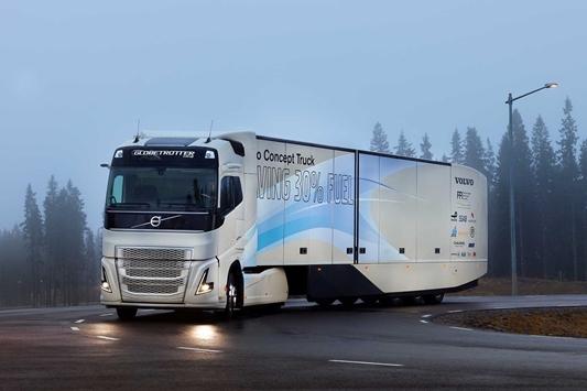 Eerste hybridevoertuig van Volvo Trucks voor internationaal transport