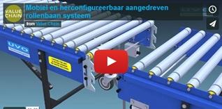 VIDEO: Mobiel en herconfigureerbaar aangedreven rollenbaan systeem
