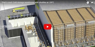 That´s cool: Cold storage warehouse with shuttles at -24°C