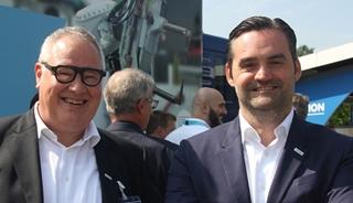 """Patrick Steenssens (links) en Jochen Bonne, respectievelijk country manager en advanced solutions director bij Tech Data Belux: """"Tot tien jaar geleden waren we in de eerste plaats een distributeur die resellers gaf wat ze vroegen. Nu merken we dat zij ons steeds vaker komen vragen hoe wij de markt zien evolueren om hun aanbod daarop af te stemmen."""""""