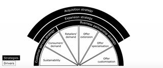 Figuur 2: Strategieën en drivers voor logistieke dienstverleners