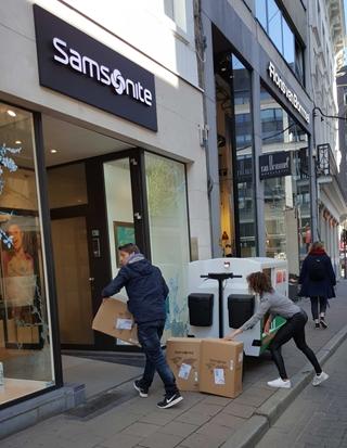 In een eerste fase werden voor Samsonite drie winkels via het micromagazijn beleverd. Stelselmatig voegde Imec tijdens het project de verschillende IoT-componenten toe.