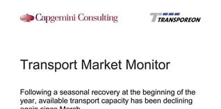 Beschikbare transportcapaciteit weer aan het dalen