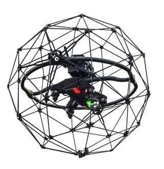 De drone Elios van Royal Vopak N.V. inspecteert grote gastanks en rapporteert aan de onderhoudsexpert.