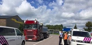 Vrachtwagenchauffeurs betrapt bij poging kilometerheffing te ontlopen