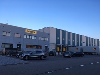 Mirka huurt nu 14.000 vierkante meter magazijn in Opglabbeek van vastgoedbedrijf Intervest.