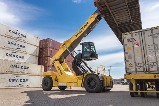 Nieuwste cabineoptie voor Hyster RS46 Reachstacker verbetert zicht voor havens en terminals