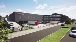 Artist impressie nieuw warehouse Hikvision (bron: Hercuton)