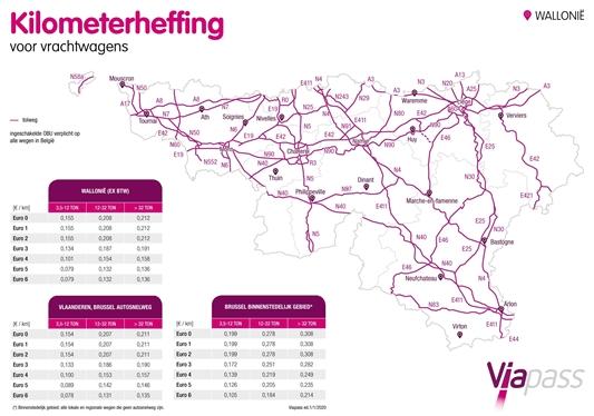 Wijziging kilometerheffing voor vrachtwagens op 1 januari 2020