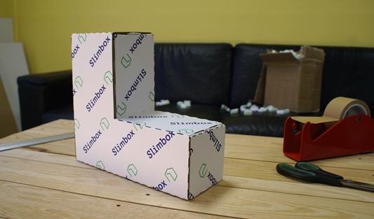 Verpakking op maat in elkaar gebokst