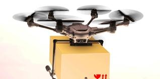 Drones verkennen het logistieke landschap