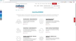 Op de site die Natch voor CEBEO ontwikkelde kan de consument met de vernieuwde PV-calculator zelf eerst de potentiële opbrengst of voorziene terugverdientijd van onder meer zonnepanelen, warmtepompen en ventilatie berekenen.