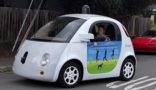De zelfrijdende auto van Google-zusterbedrijf Waymo.