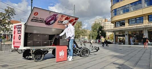 Collect&Go City levert boodschappen per cargofiets tot in stadscentrum