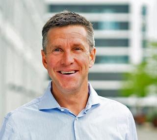 """Stephan Sieber, CEO bij Transporeon: """"In onzekere tijden zoals nu wordt het belang van realtimedata nog groter, want daarmee kun je sneller op onverwachte gebeurtenissen inspelen. Ook worden beslissingen beter, want nu worden die vaak op het buikgevoel genomen.'"""