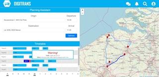 Alle betrokken partijen krijgen in real time toegang tot de locatie van de truck en de orderinformatie.