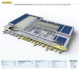 Het distributiecentrum bestrijkt een oppervlakte van 45.000 vierkante meter.
