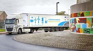 Colruyt neemt deel aan een subsidieproject waarbij het bedrijf als eerste in Europa een volledig elektrische truck van 44 ton op waterstof laat meedraaien in de logistiek.