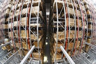 Het automatische hoogbouwmagazijn voor de in- en uitslag van pallets. Foto: TGW Logistics Group GmbH