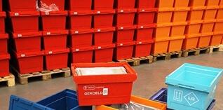 Farmaceutische groothandel gebruikt 45.000 nestbare bakken van BITO
